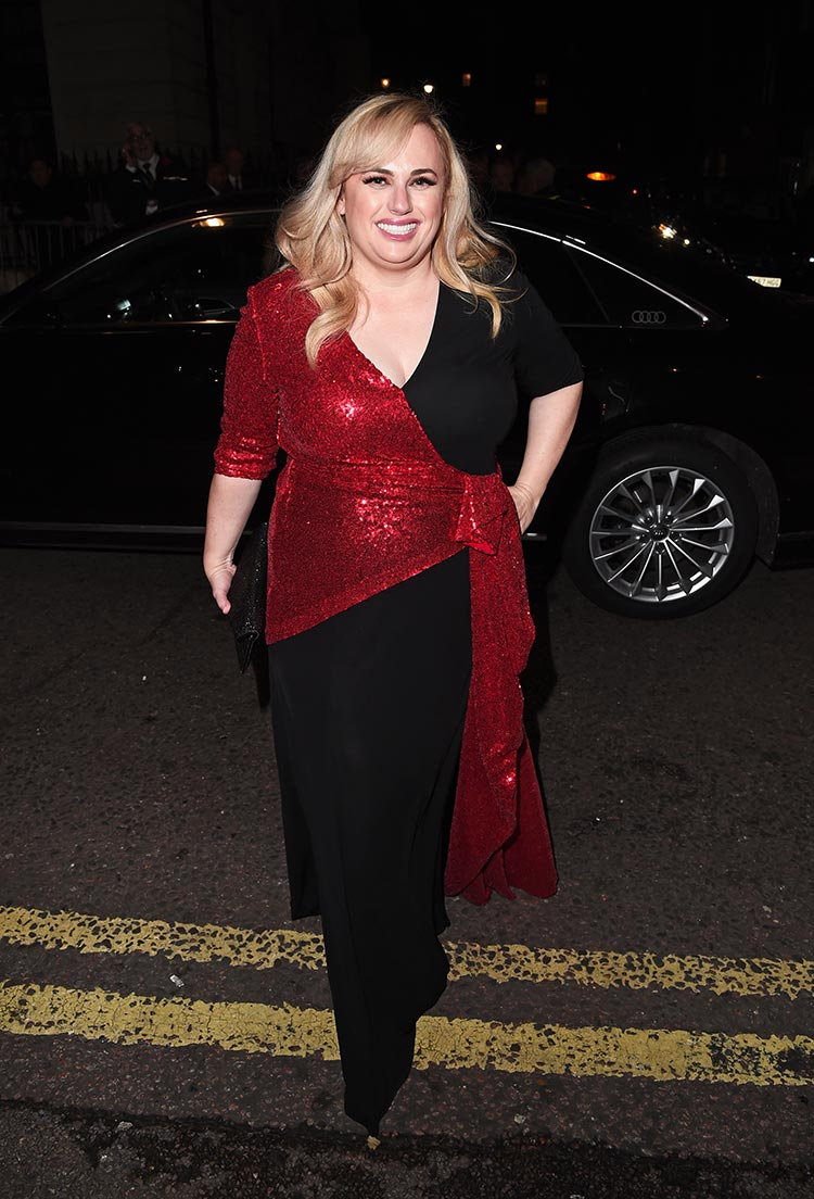 Rebel-Wilson-arrives-in-an-Audi-at-the-EE-British-Academy-Film-Awards-Dinner-2020-at-Grosvenor-House,-London,-Sunday-02-February-2020