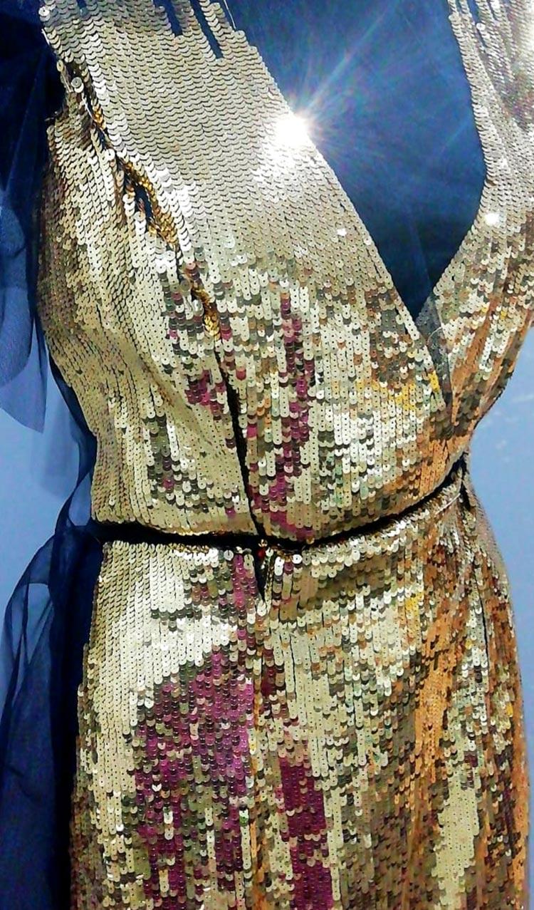 Tambour Beading Gold dress (2)