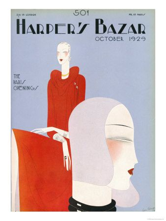 Cover of Harper's Bazaar UK First Issue, Published October 1929