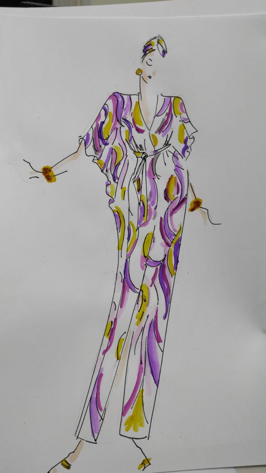 Gracie Opulanza wool kaftan cashmere dress 2021