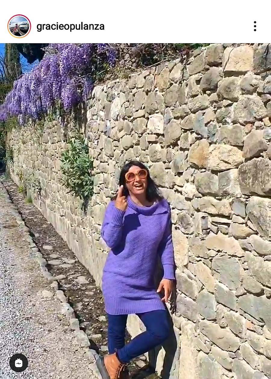 The Colour Purple - How To Wear Purple Gracie Opulanza Westeria Tuscany