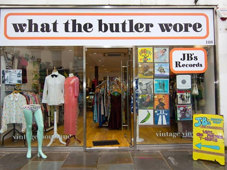 What The Butler Wore Vintage shop London waterloo