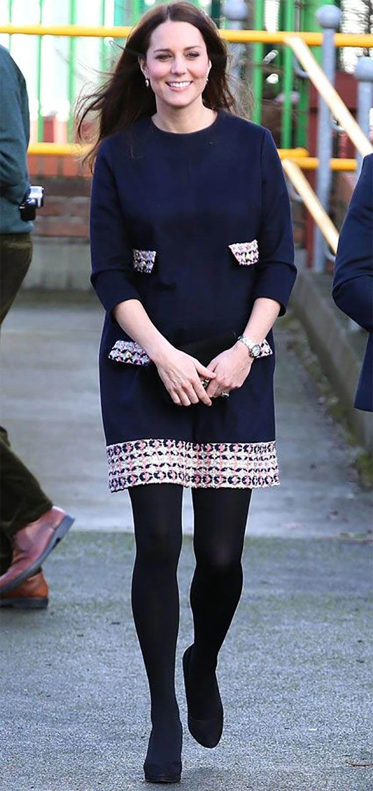 shift dress kate middleton with stockings