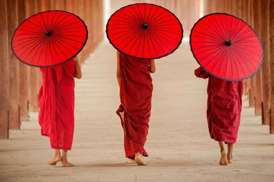 red monks umbrella