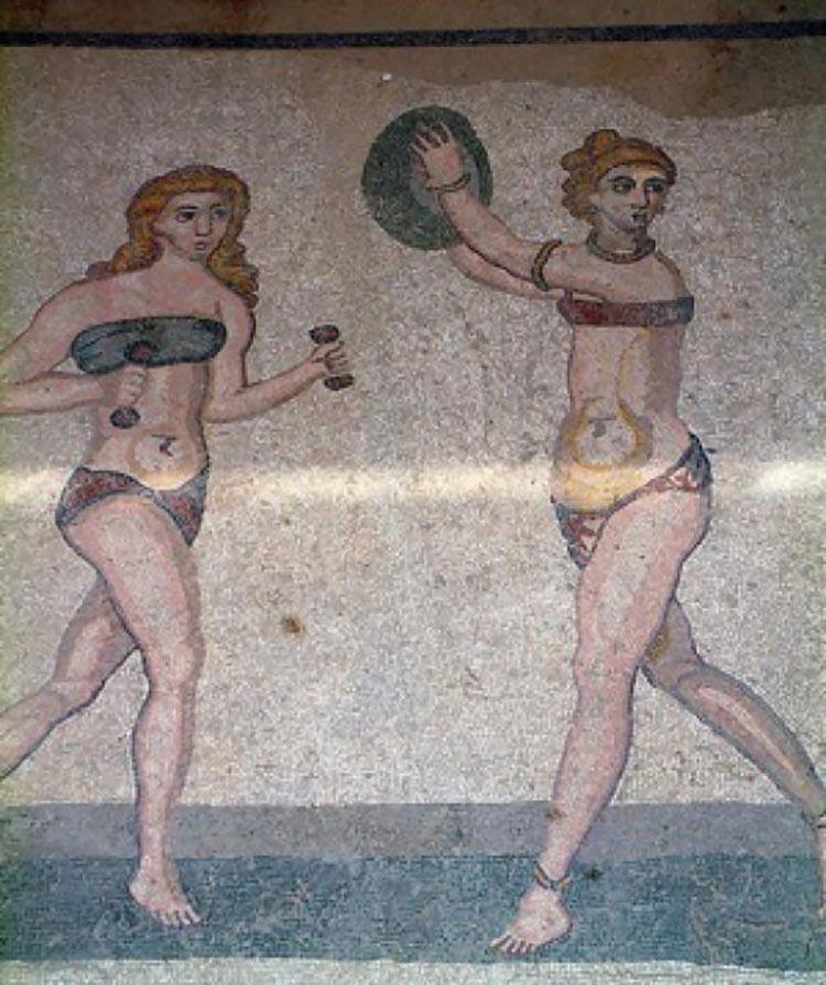 Bikini Mosaic Sicily Romans