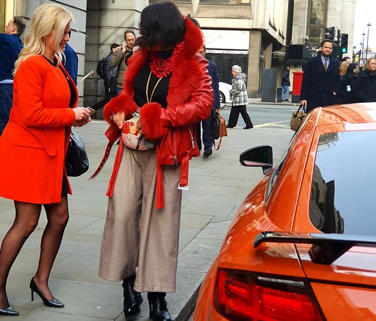 Orange TT burnt red leather jacket gracie opulanza