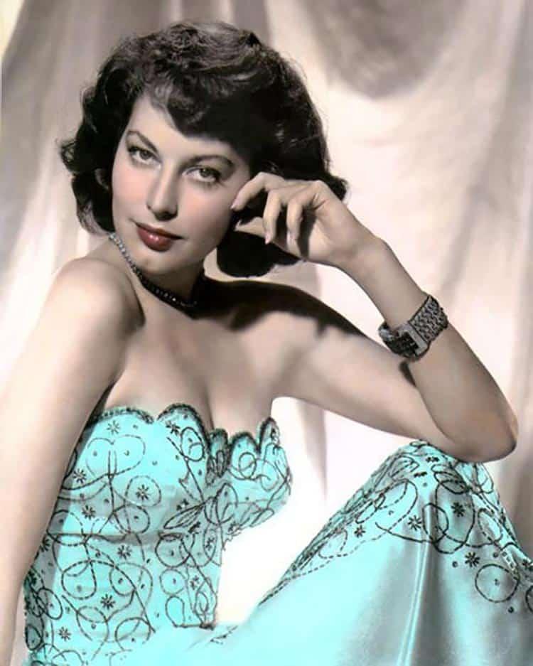 Actress Ava Gardner – a 1940s pin-up star.