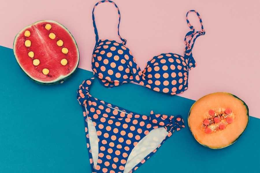 Polka Dot Retro swimwear