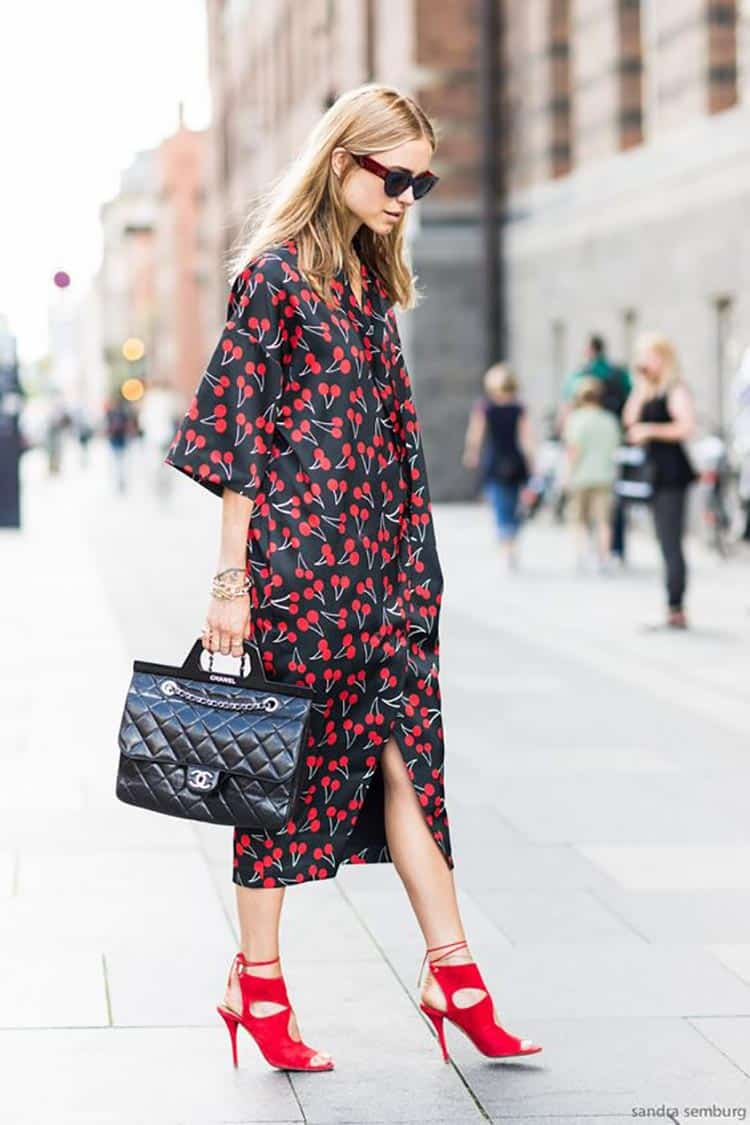 chanel-with-cherry-fruit-print-dress