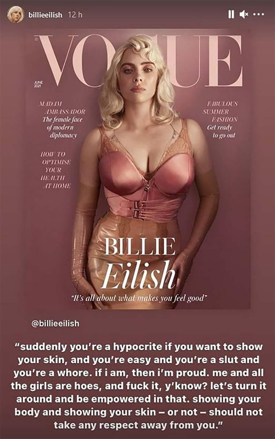 Billie Eilish vogue 2021