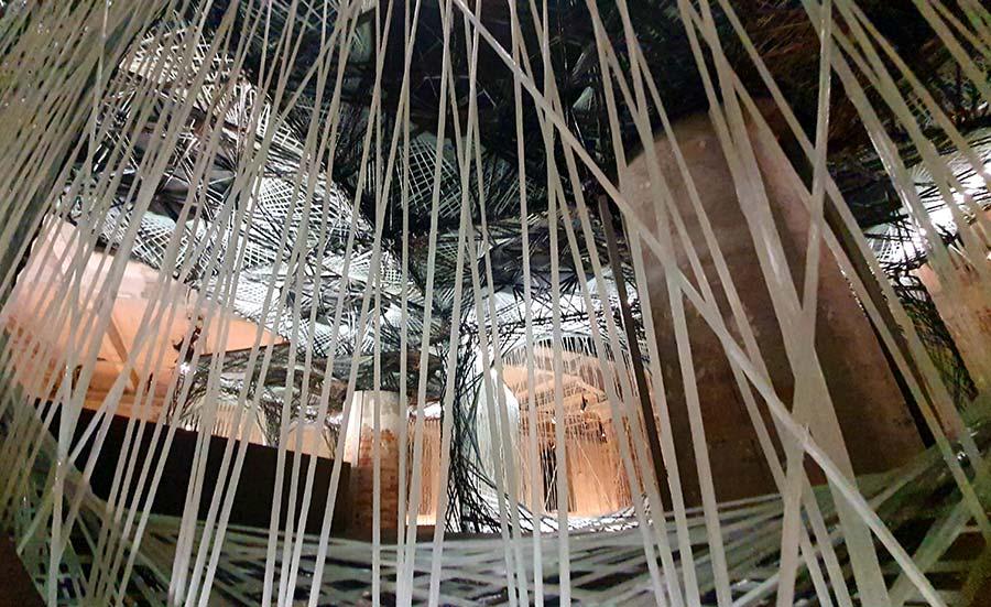 La Biennale carbon and glass interior designs