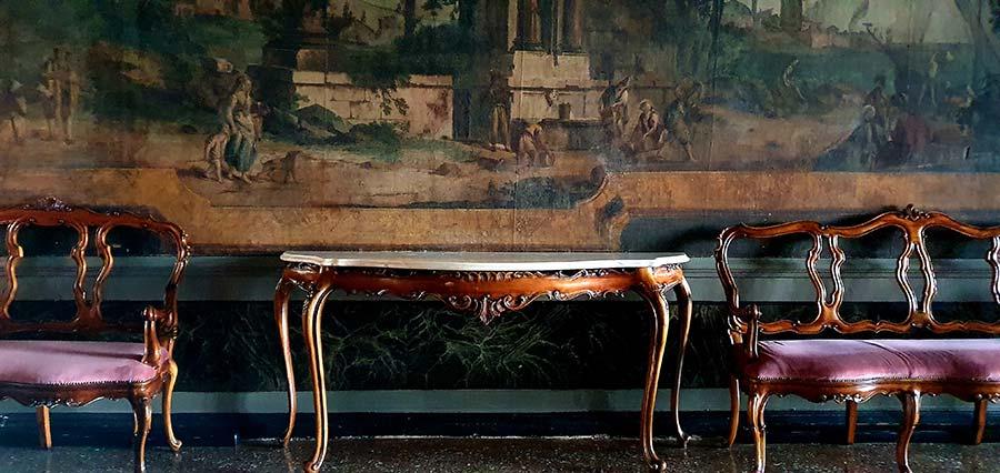 tapestry Ca Sagredo Ballroom Palazzo venice Italy