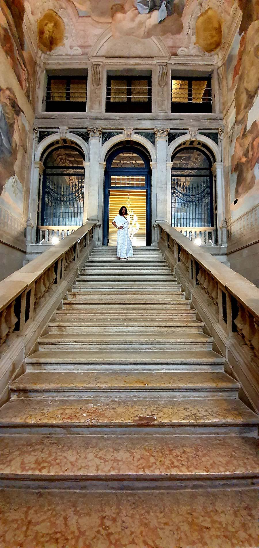 Ca' Sagredo Hotel staircase Venice