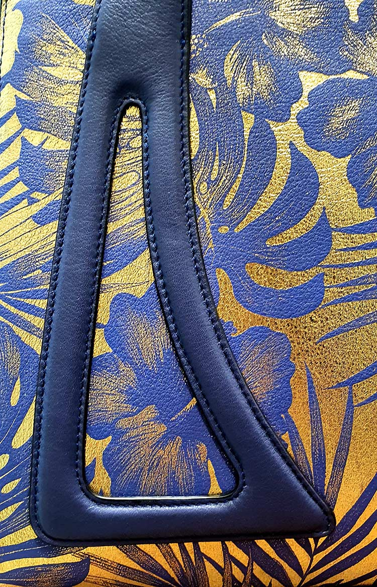 Micheleda fine leather printed bag made in italy.