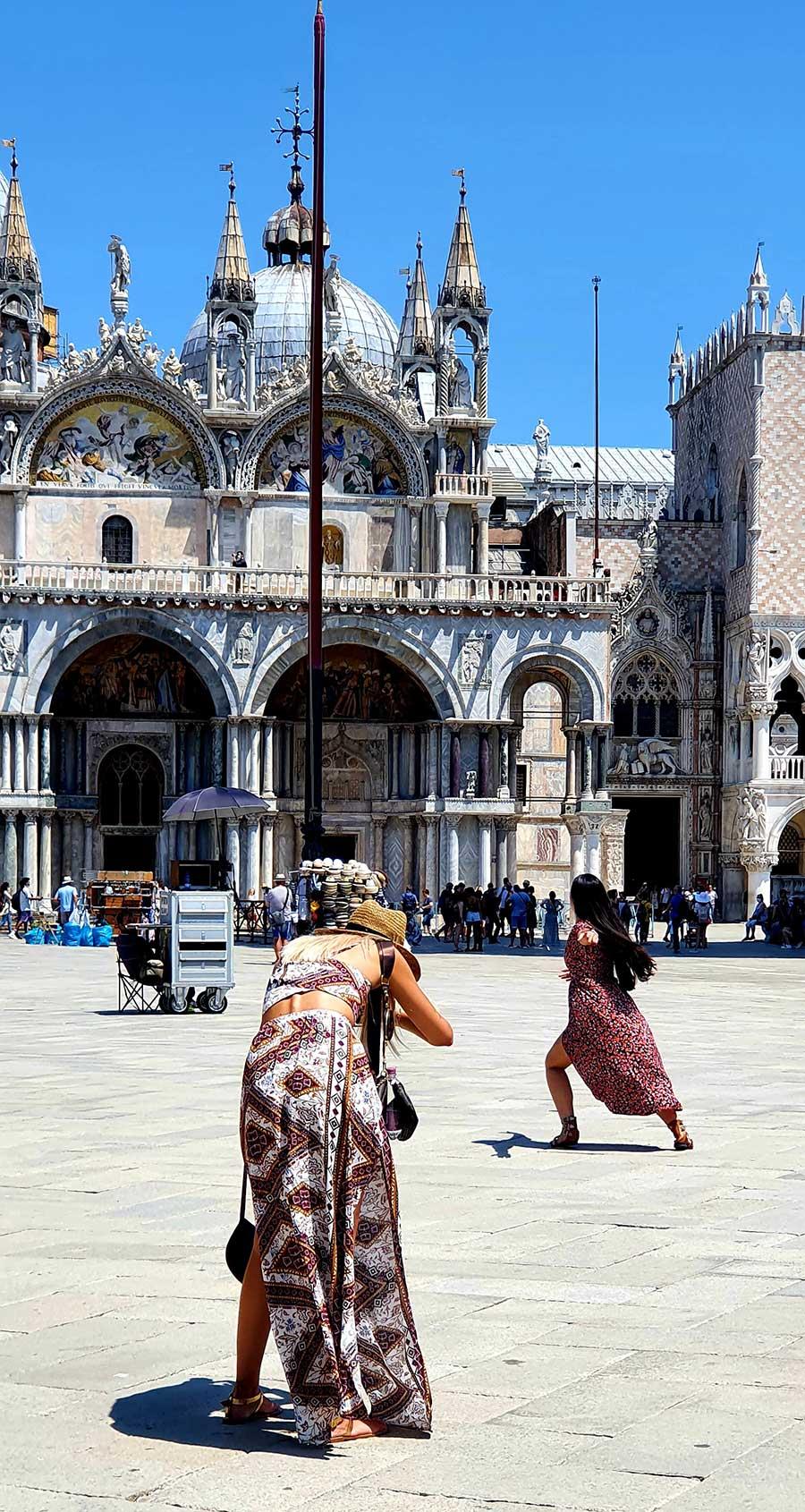 brown dress Venice
