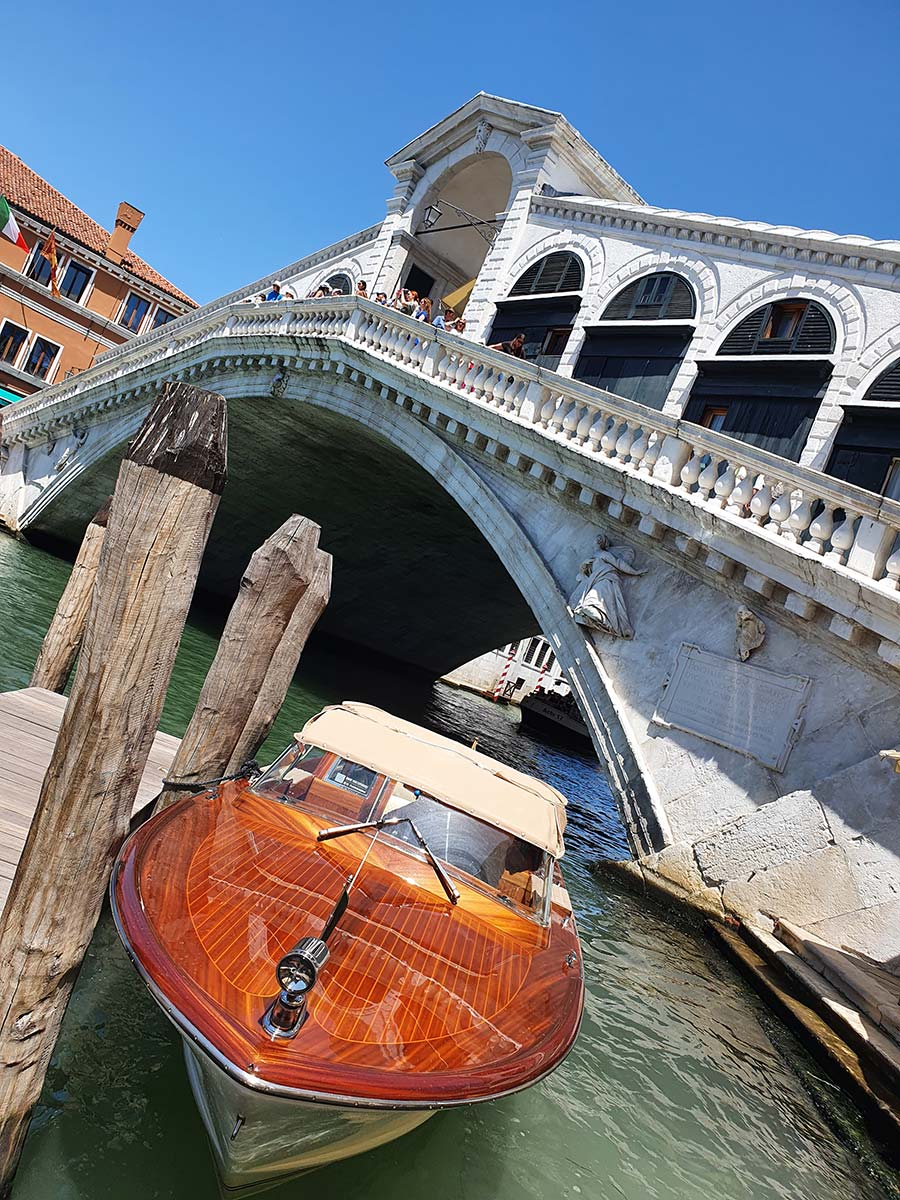 Riva speedboat rialto bridge Venice