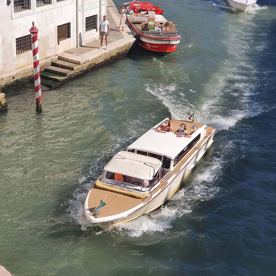 Modern Riva yacht venice grand canal