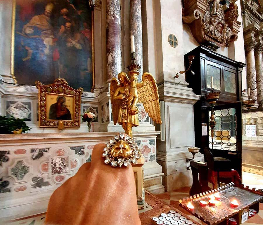 Dolce & Gabbana inspired church ring Gracie opulanza