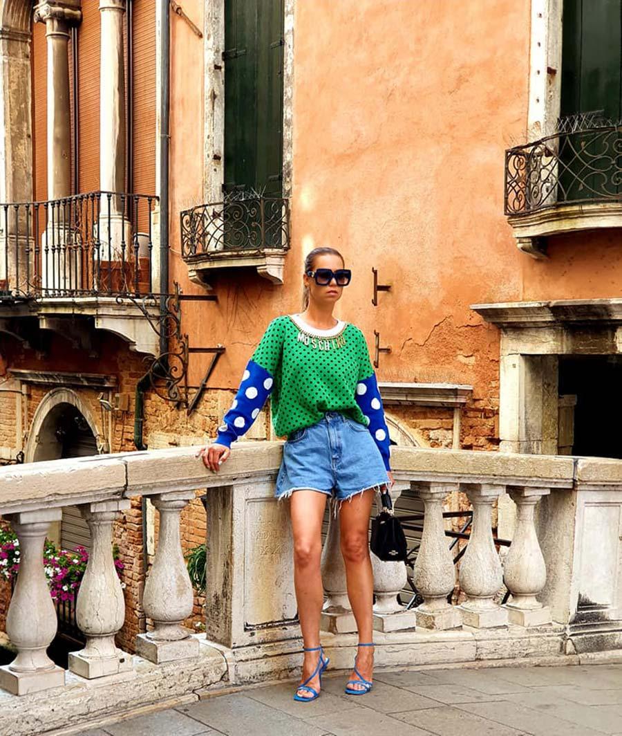 Moschino Top denim shorts venice 2021 summer