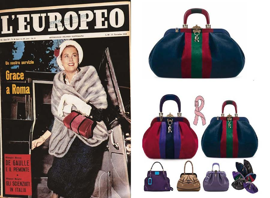 arm in 1956, the legendary Bagonghi bag