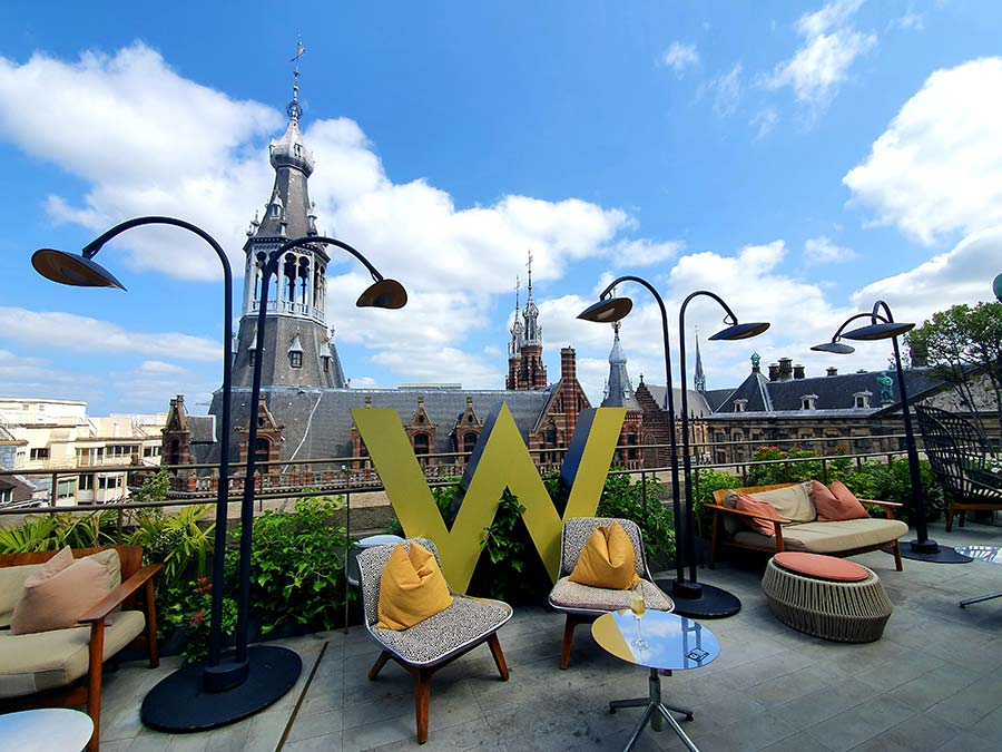 WAmsterdam rooftop view