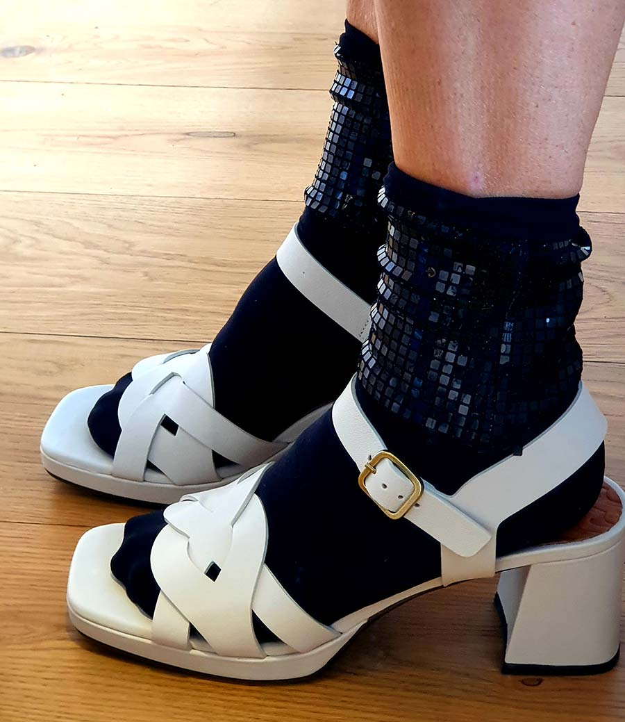calzedonia socks Fashion For Fifty - Sandals With Socks Style Tips
