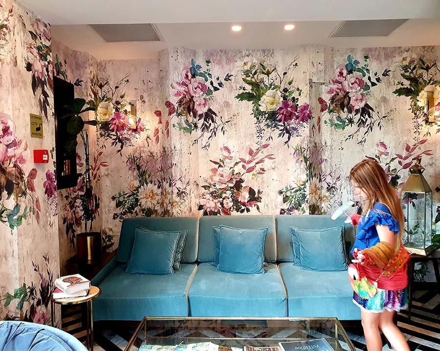 Wallpaper art interior Design Indigo The Hague