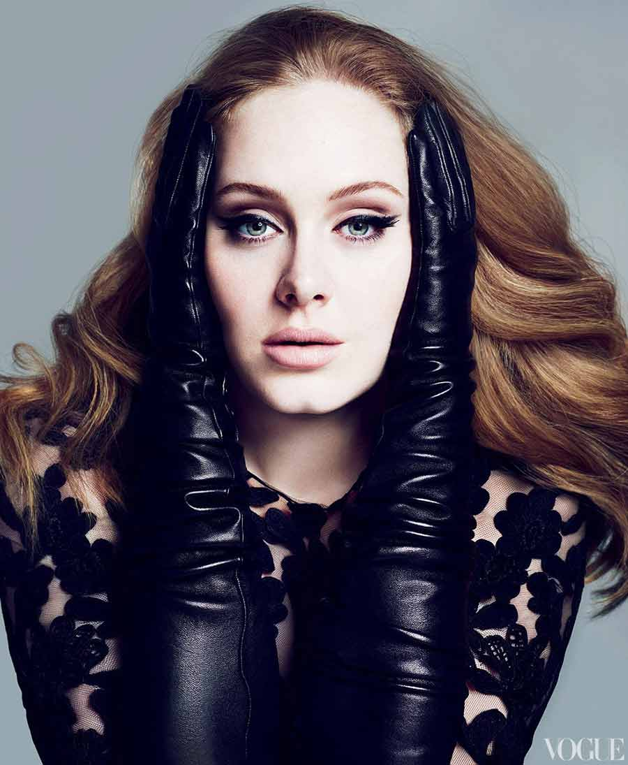 Adele tough Glamour Vogue One and only