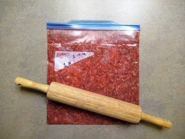 flatten your meat with a rolling pin