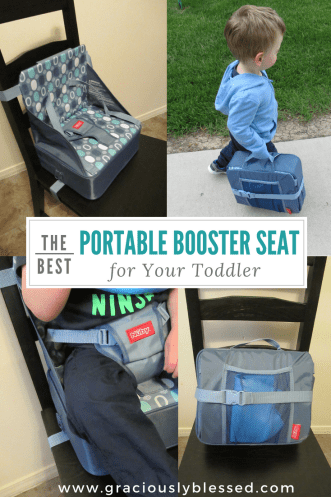 I've looked for a portable booster seat for my toddler for quite a while and I finally found one we love! If you're in need of a booster seat, this is definitely the one to get!