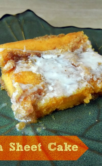 Fall Recipe: Pumpkin Sheet Cake
