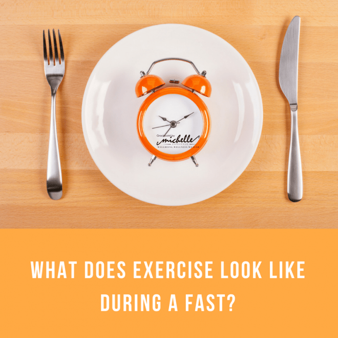 What does exercise look like during a fast?