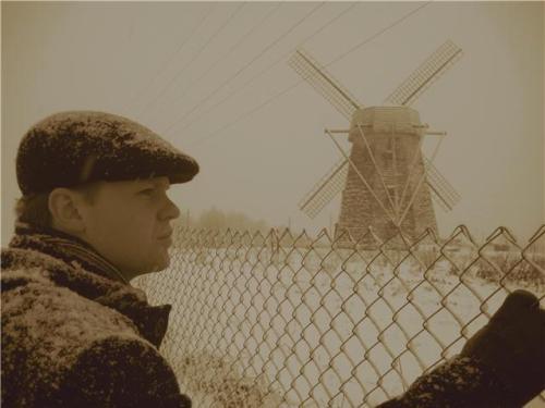 antique windmill