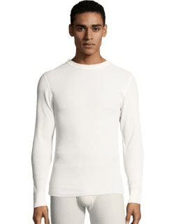 Hanes men's thermal crewneck shirt