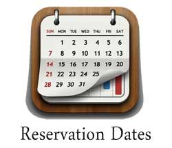 Choose your Reservation Dates Here