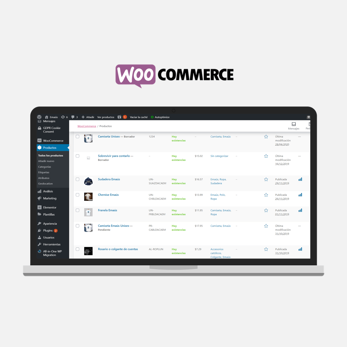 ETL 100 productos en WooCommerce con WP All Import