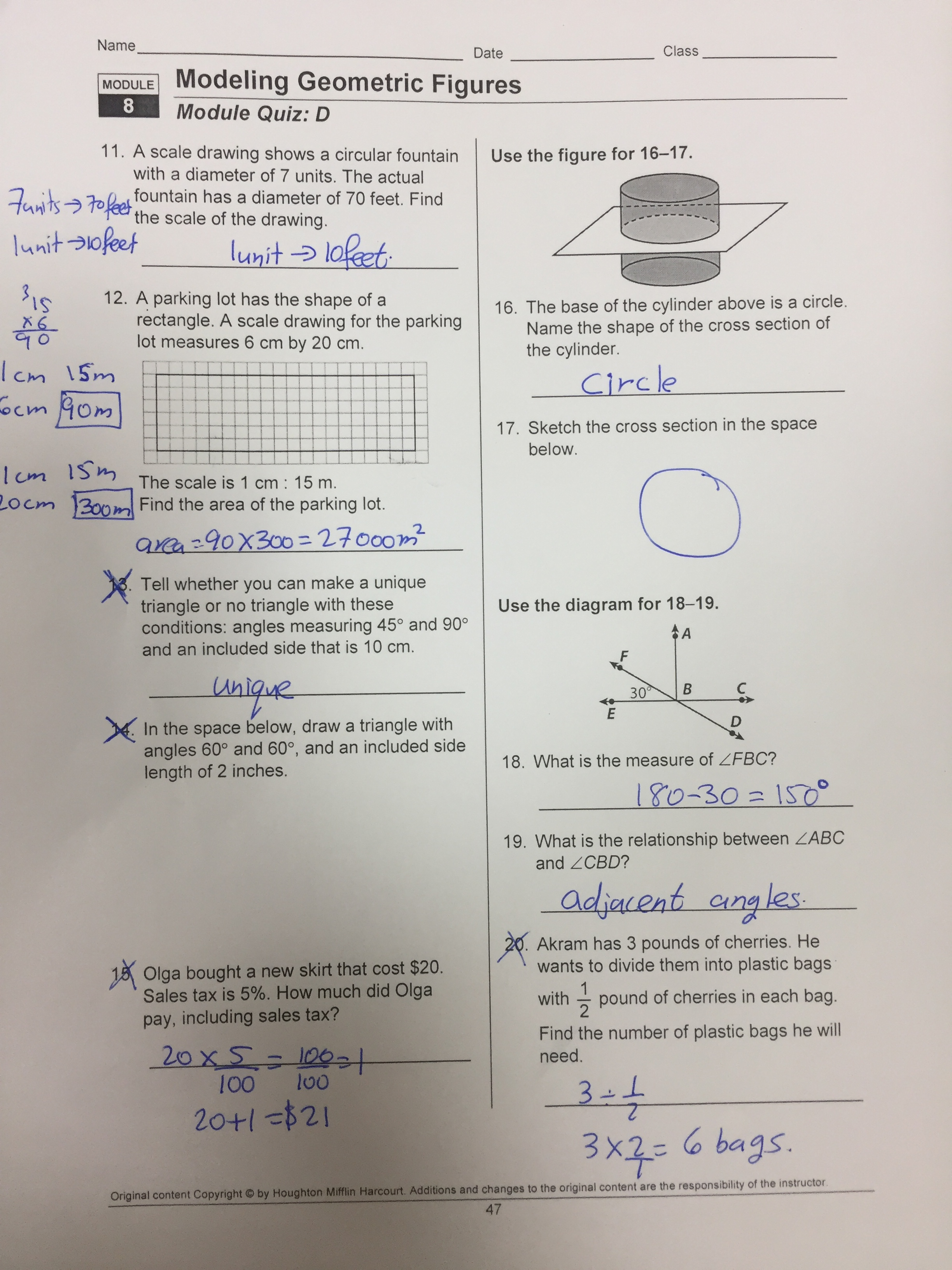 15 Best New Scale Drawing And Models Worksheet Answers