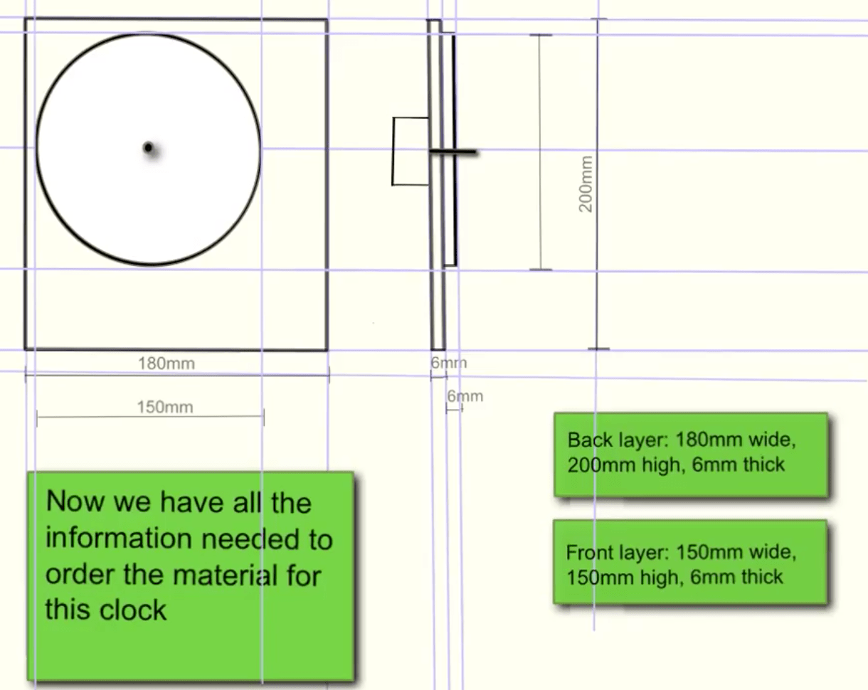 Creating An Orthographic Drawing For Your Clock