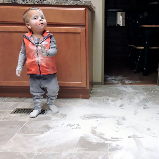 My Son Just Made A Huge Mess. This Is His Just Let Me Explain Face