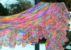 Beatrice Shawl hand knitting pattern by Gradiance Yarns   www.gradianceyarns.co.uk