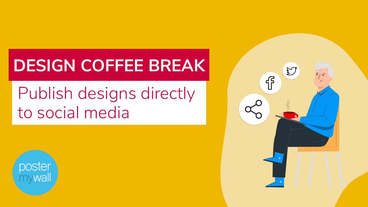 Publish designs directly to social media