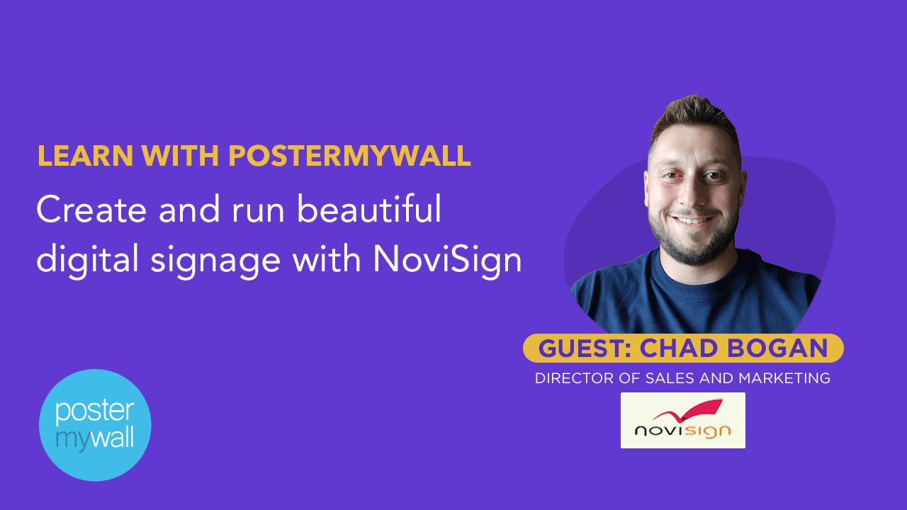 Create and run beautiful digital signage with NoviSign