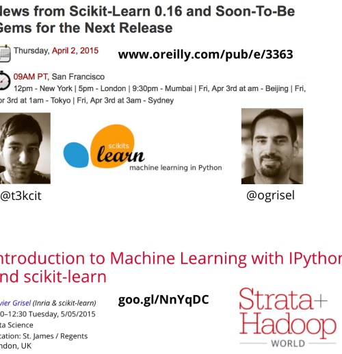 scikit-learn webcast and tutorial
