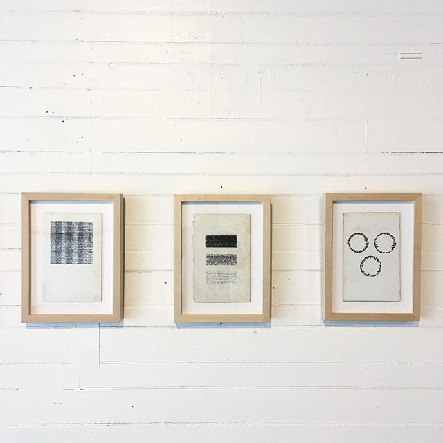 3 of the 18 'Textracts', that make up the full text of the Bhagavad Gita transcribed by typewriter into visual form.  Part of 'Playgrounds' – Solo exhibition by @michellekohlerstudio
