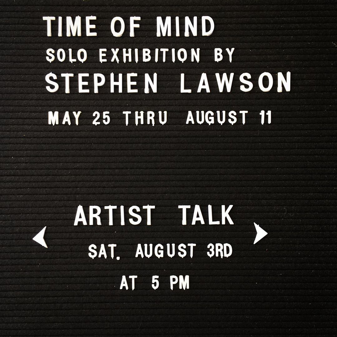 This Saturday, August 3rd // 5pm – 8pm.  Please join us this Saturday at 5:00 for an artist talk with Stephen Lawson.  Stephen will be discussing his artistic practice and taking questions about his current exhibition Time of Mind.  A closing reception will follow with time to meet the artist and to experience the work.  In addition, we've recently introduced the Gradient Exhibition Drawers — currently featuring work by @michellekohlerstudio, @mozarkrm, @elmalayheehoo, @jrbrubaker, and @backstitched_design.  Facebook event here: https://www.facebook.com/events/323315838549743/