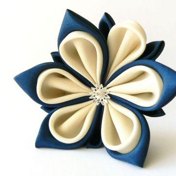 Floare lotus bleu alb sistem dublu