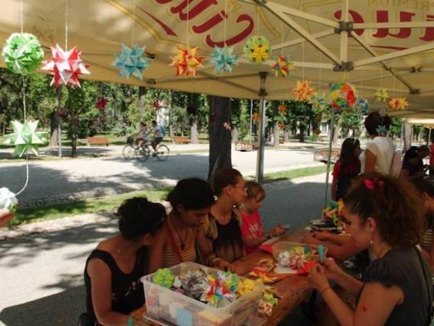 Atelier origami la Colours of Cluj