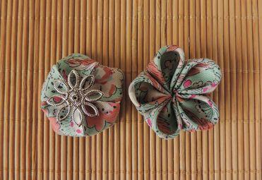 Tutorial: cercei cu flori din mătase material textil și mărgele semiprețioase DIY cum se fac