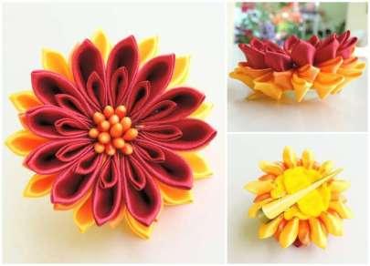 Crizantema galben-rosu