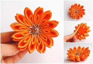 Crizantema oranj mica